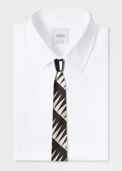 designer silk tie with ceramic knot | YOJO