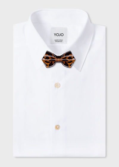 tortoise-ceramic-bow-tie-on-designer-shirt-yojo