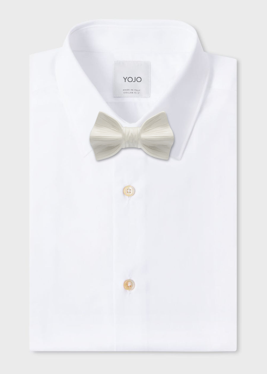 man luxury white ceramic bow tie by YOJO