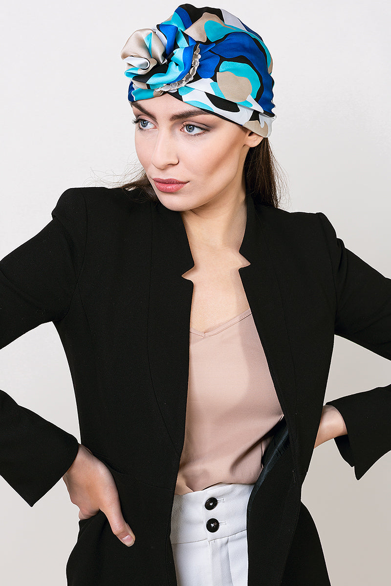 womens-silk-turban-hat-designer-statement-print-with-ceramic-ring-yojo