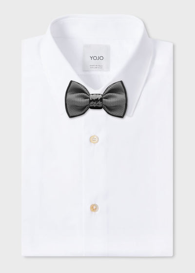 minimalist silk bow tie with ceramic knot | YOJO