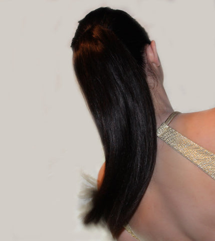 Back View Clip & Tie Ponytail Extension by Queen C Hair