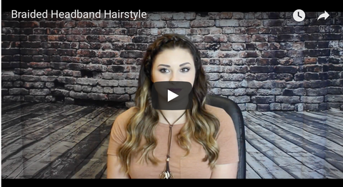 How to do a braided headband using Hair Extensions