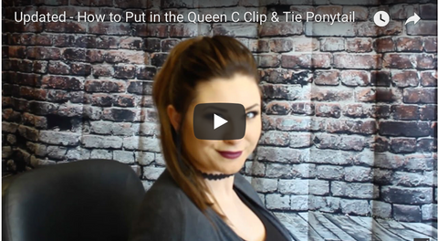 How to put in a ponytail hair extension by Queen C Hair