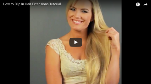 How to put in hair extensions by Queen C Hair