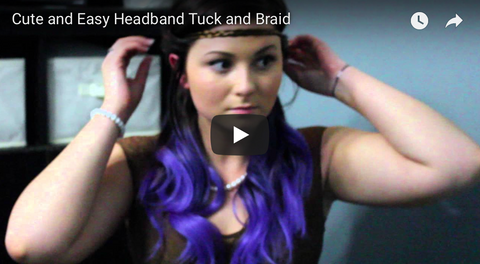 How to do a cute and easy headband tuck and braid