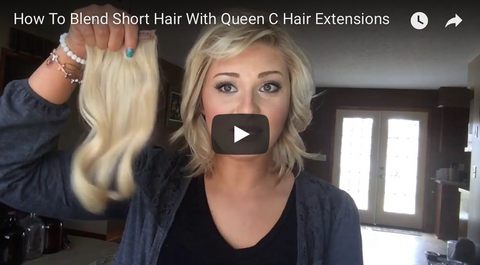 How to Blend short hair with extensions