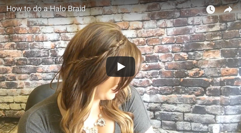 How to do a Halo Braid with extensions tutorial