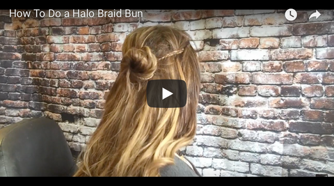 How to do a Halo Braid BUN tutorial