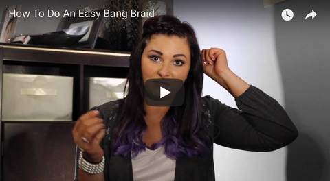 How to do a easy bang braid tutorial
