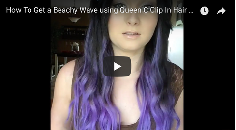 How to get a beachy wave using hair extensions tutorial