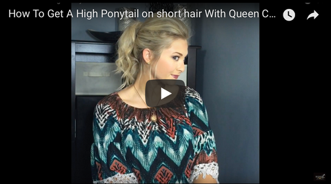 How to get a high ponytail on short hair using hair extensions tutorial