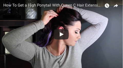 How to get a high ponytail using hair extensions