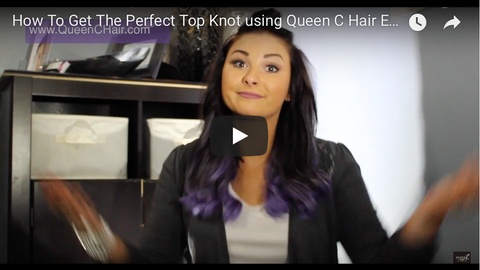 How to get the perfect top knot tutorial