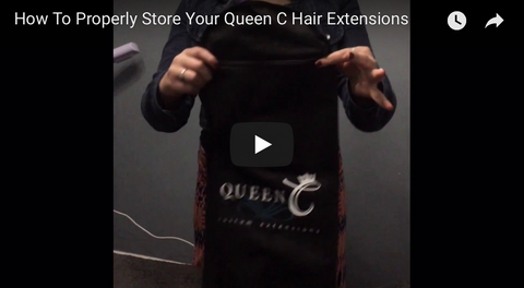 How to properly store your hair extensions tutorial
