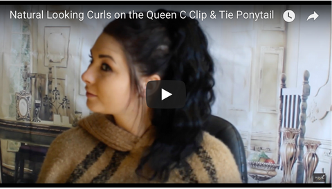 natural looking curls on your ponytail tutorial
