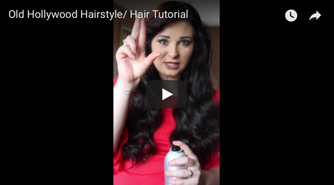 how to get a Hollywood hairstyle tutorial