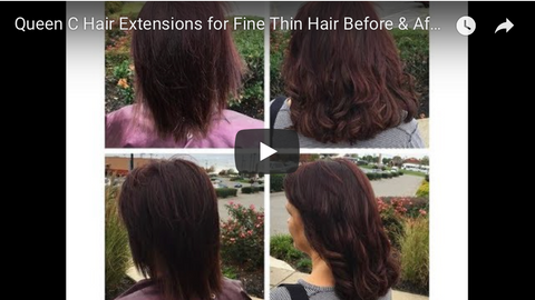 before and after pictures of the best hair extensions for fine hair thin hair