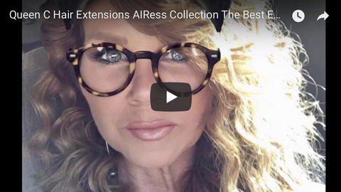 Airess best hair extensions for thin fine hair  before and after