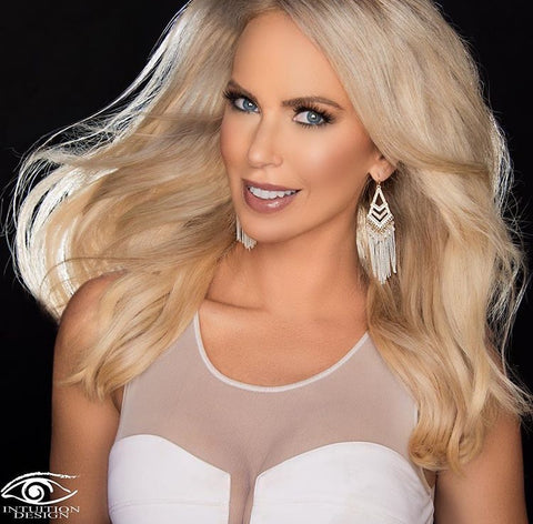 Tara Rice wearing Queen C Hair Extensions