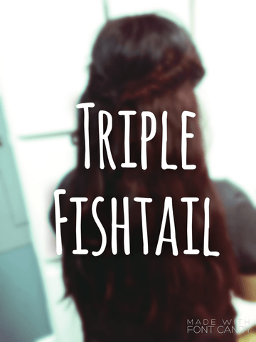 Triple Fishtail Braid Tutorial by Queen C Hair Extensions