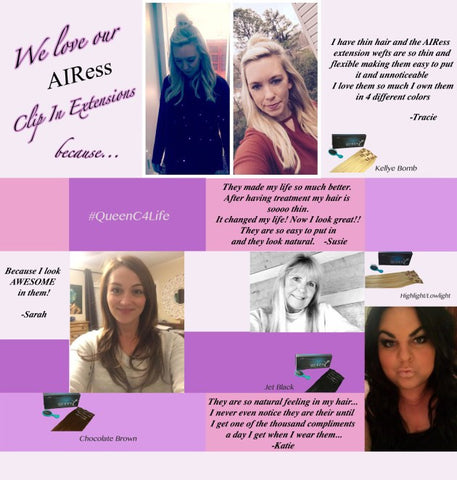 Testimonials for AIRess Hair Extensions Why You Should Wear AIRess Hair Extensions