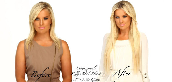long Blonde Hair Extensions Reasons to love Crown Jewels Queen C Hair Extensions