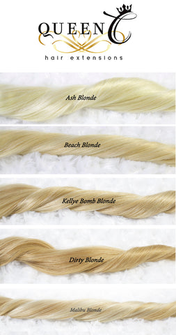 Blonde Hair extensions by Queen C Hair Human Hair extensions