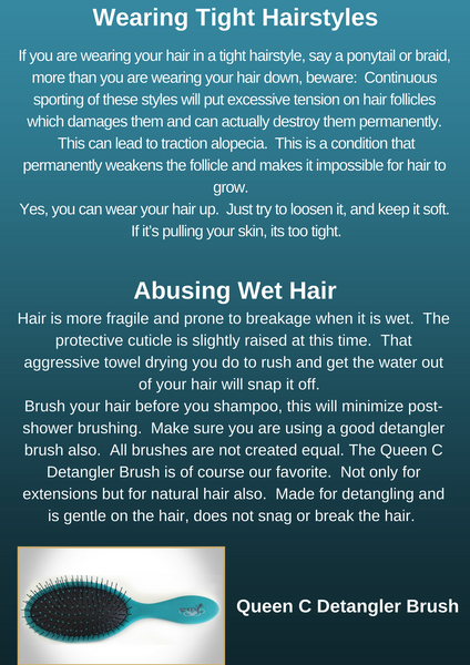 Reasons for Hair Loss Article by Queen C Hair