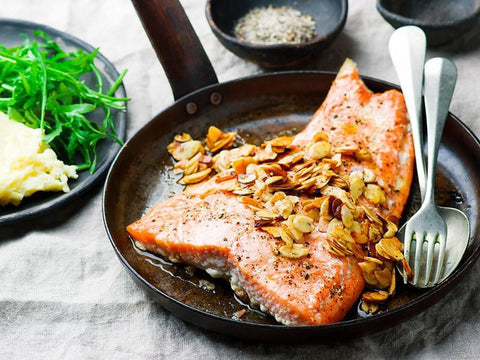 Almond Trout Recipe Vitamin and Nutrient Hair Facts Blog