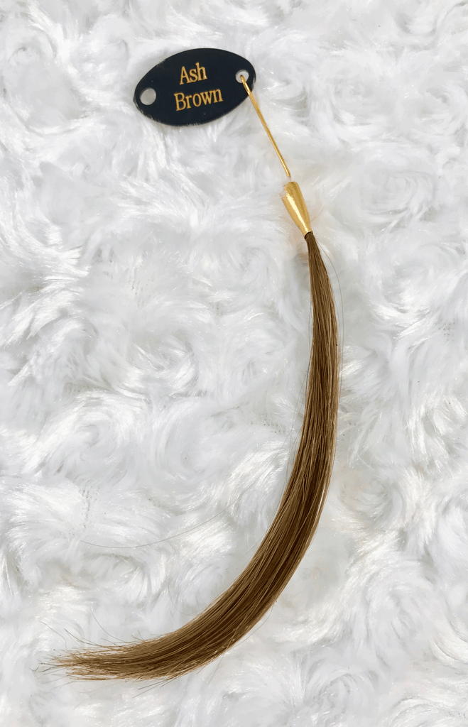 Queen C Hair Extensions Ash Brown Color Swatch