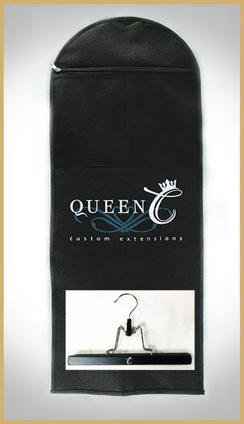 Queen C Hair Extension Storage Bag and Hanger