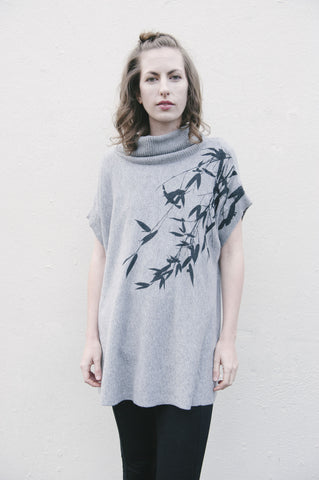 Fairytale Trees Long Sleeve V-Neck in Gauze