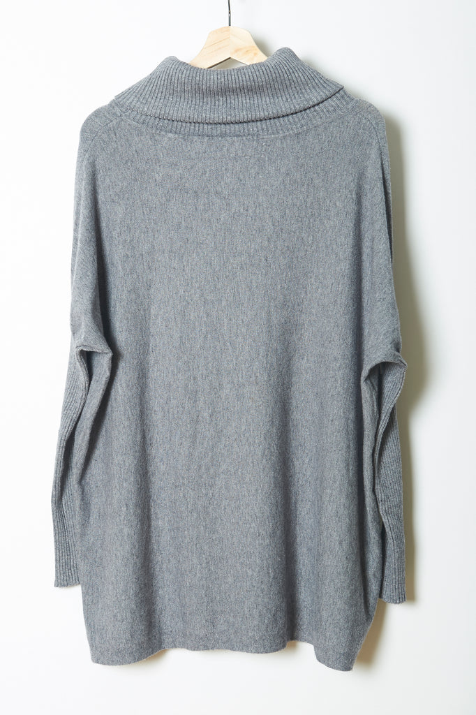 Fairytale Trees Turtleneck Poncho Light Gray-with code is $81