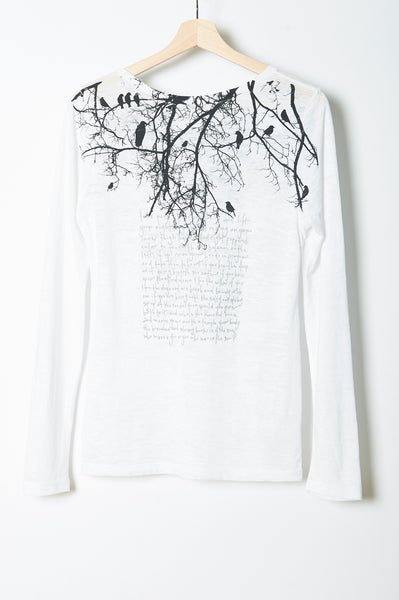 Tree Branch w/ Poem Long Sleeve Crewneck
