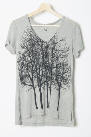 Fairytale Trees Pocket Tee in Milky Green
