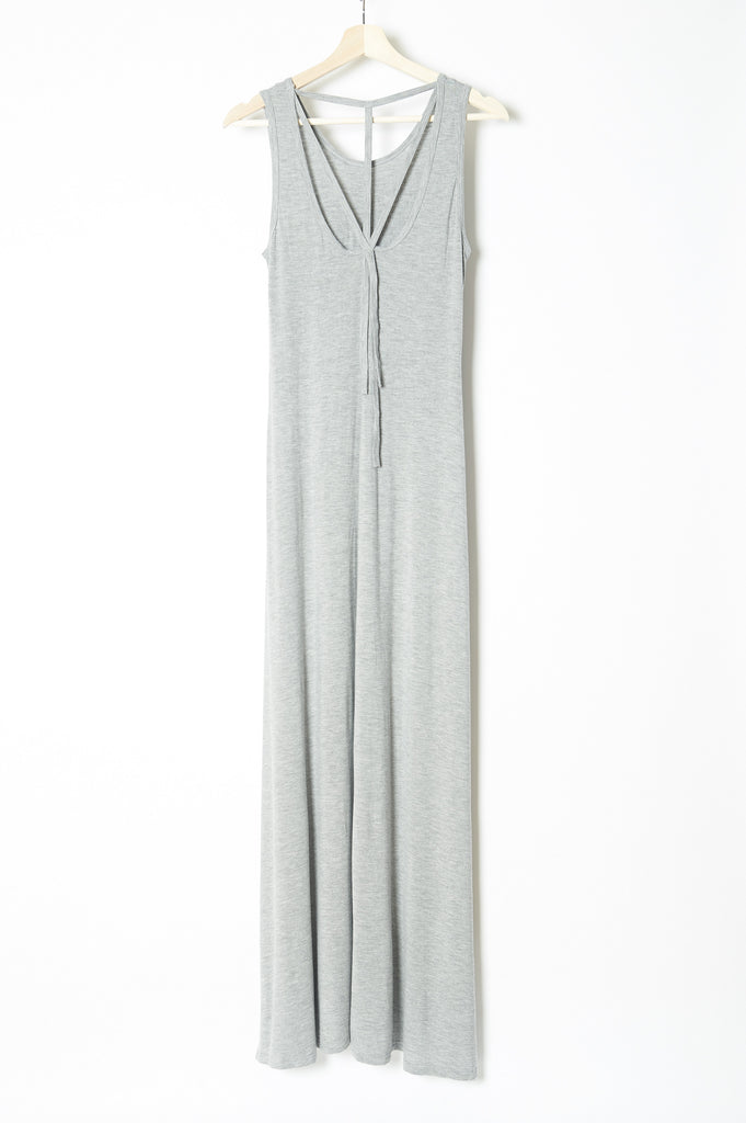 Fairytale Trees Gray Strappy Maxi Dress