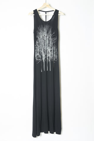 Peacock Dress Black