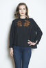 Wabi Sabi Sale Double Happiness top Black-with discount code is $22.50