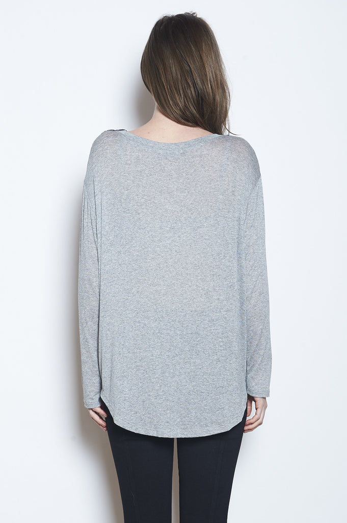 Bamboo Boxy Long Sleeve Tee