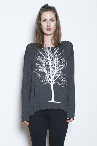Field Long Sleeve Burnout Crew Neck Tee