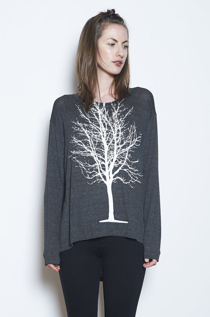 Single Tree Boxy Long Sleeve Tee