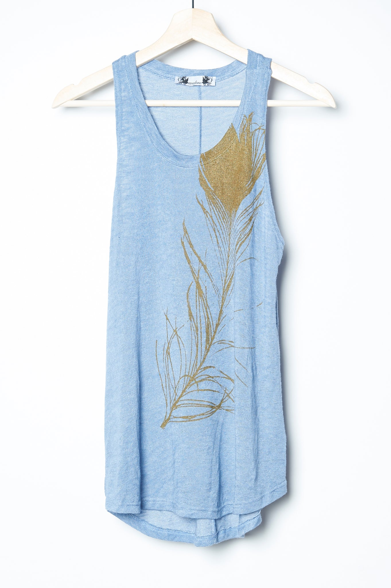 Peacock Feather Tank Blue