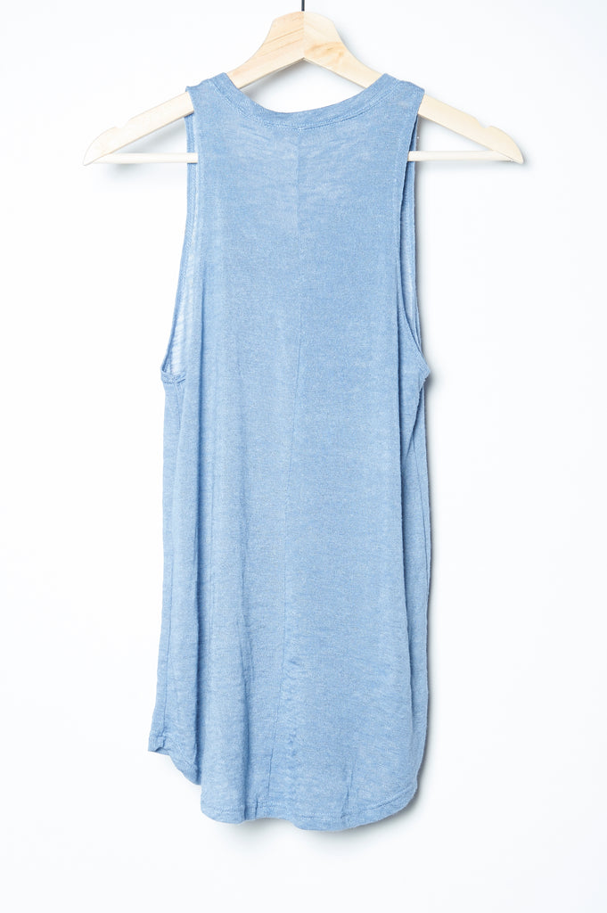 Wabi sabi Peacock Feather Tank Blue with code is $35.25