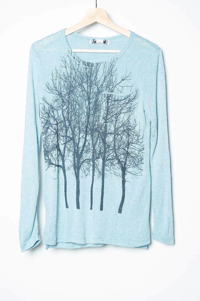 WABI SABI SALE Fairytale Trees Long Sleeve Iceberg with code is 32.25