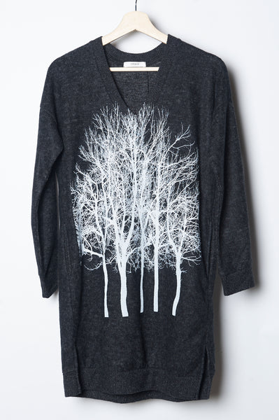 Fairytale Trees Fuzzy Pocket Tunic Sweater