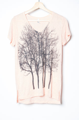 WABI SABI SALE Fairytale Trees Pocket Tee in Milky Green