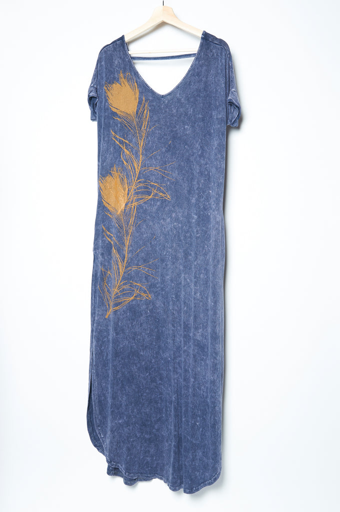 Peacock Feather Caftan Denim