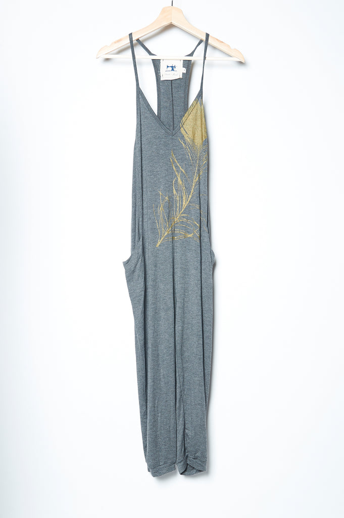 Peacock Jumpsuit - Gray