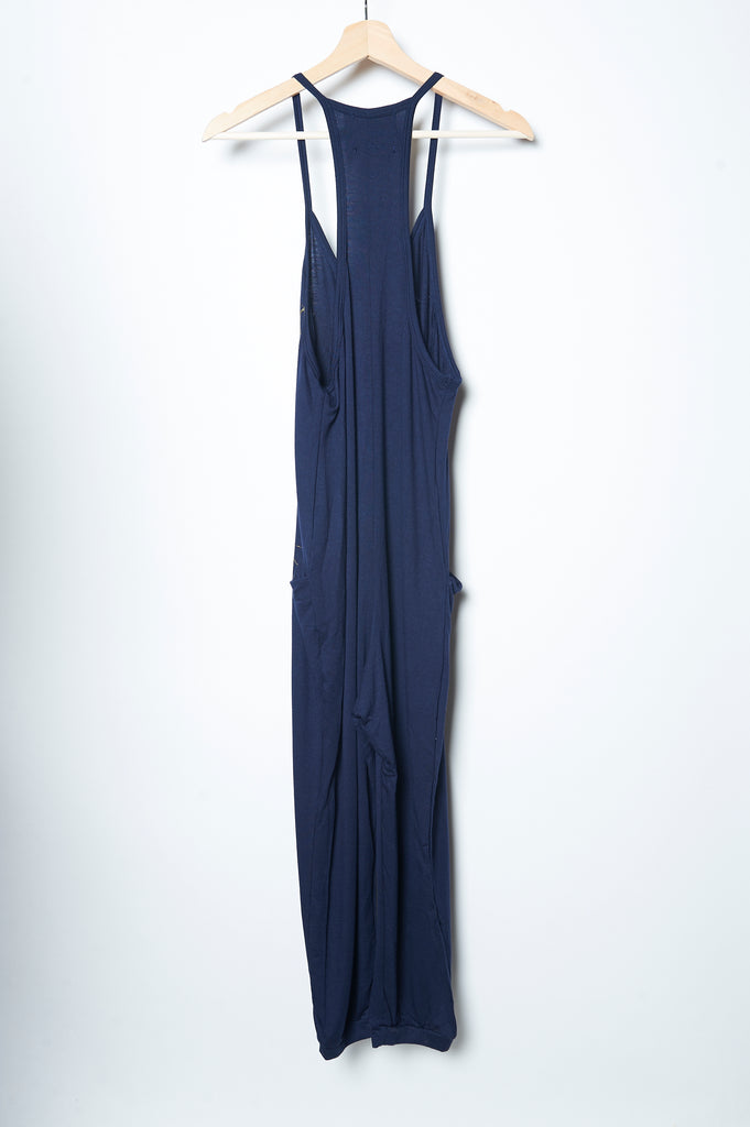 Peacock Feather Jumpsuit Navy